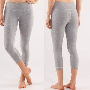Lululemon Wunder Under Herringbone Crop Leggings